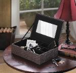 #10015406 Faux Leather Keepsake Box