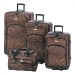 #13349 Leopard Print Luggage Ensemble $249.95