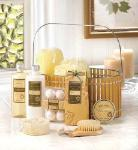 #14431 Warm Vanilla Spa Basket