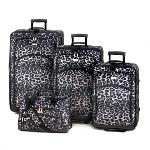 #15244 SNOW LEOPARD PRINT LUGGAGE SET