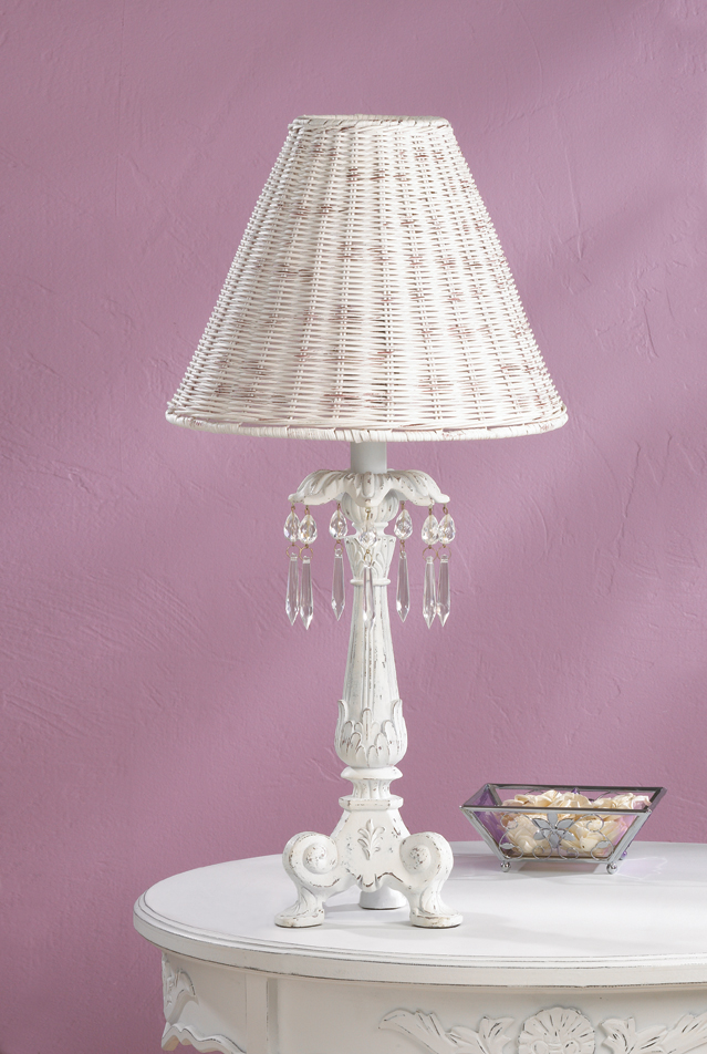 Crystal-Accented Column Lamp